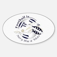 Navy Blue and White Football Soccer Decal