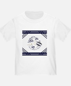 Navy Blue and White Football Soccer T-Shirt