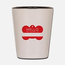 Hello Dog Tag Shot Glass