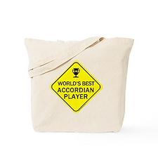 Accordian Player  Tote Bag