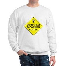 Accordian Player  Sweatshirt