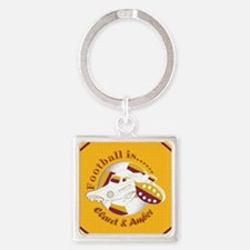 Claret and Amber Football Soccer Keychains