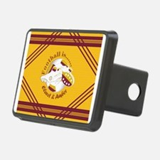 Claret and Amber Football Soccer Hitch Cover