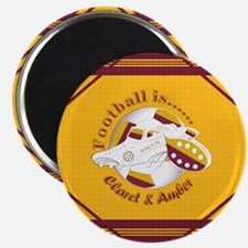 Claret and Amber Football Soccer Magnets