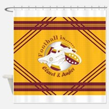 Claret and Amber Football Soccer Shower Curtain