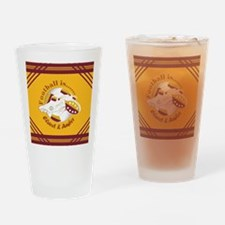 Claret and Amber Football Soccer Drinking Glass