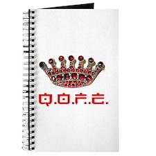 QOFE Crown Pin logo journal