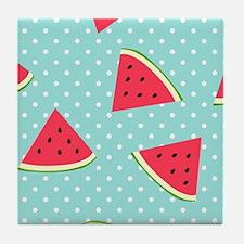 Cute Watermelon lovers Tile Coaster