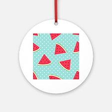 Cute Watermelon Round Ornament