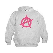 Pink Anarchy Symbol Hoodie