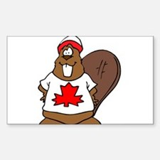Canadian Beaver Rectangle Decal