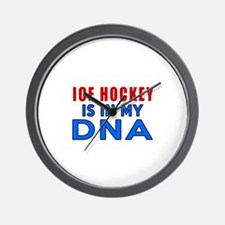 Ice Hockey Is In My DNA Wall Clock