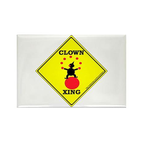 Clown Xing Rectangle Magnet
