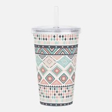 Native Pattern Acrylic Double-wall Tumbler