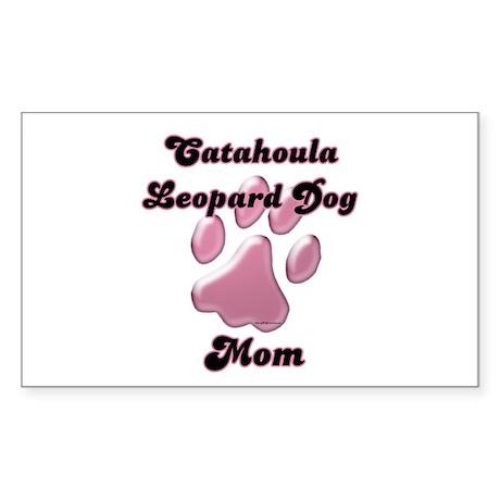 Catahoula Mom3 Rectangle Sticker