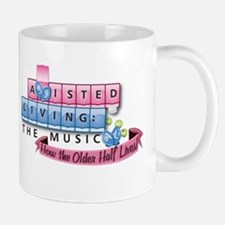 Assisted Living The Musical Logo Mugs