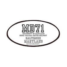 UNIVERSITY AIRPORT CODES - MD71 - UNIVERSITY Patch