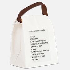 Funny German shepherd lab mix Canvas Lunch Bag