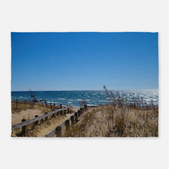 Beach walkway 5'x7'Area Rug