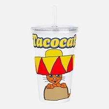 Taco cat Acrylic Double-wall Tumbler