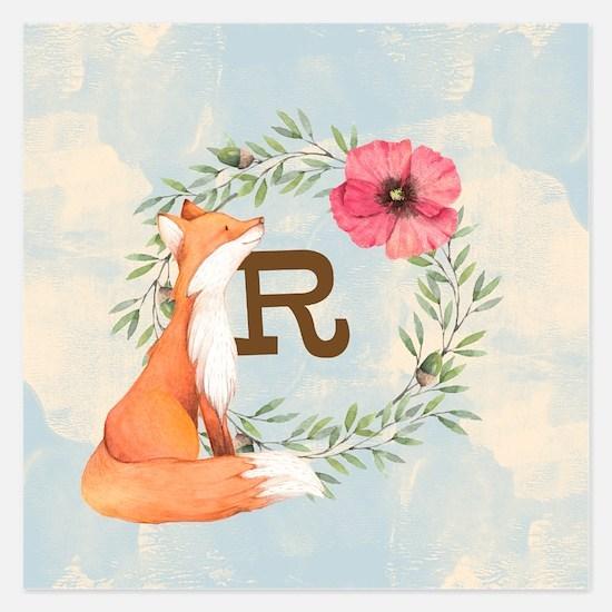 MONOGRAM Woodland Fox Invitations