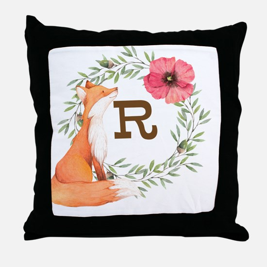 MONOGRAM Woodland Fox Throw Pillow