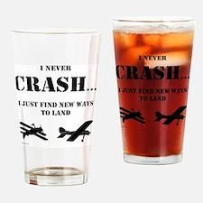 Cute Airplane Drinking Glass