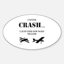 Unique Airplane Sticker (Oval)