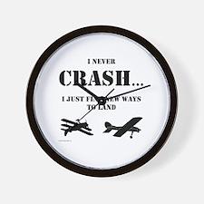 Cute Airplanes Wall Clock