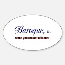 Baroque Oval Decal