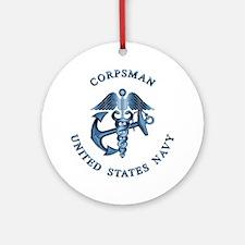 USN Corpsman Ornament (Round)