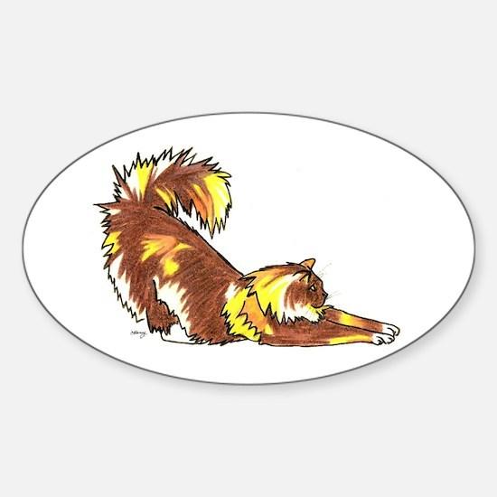 Funny Moggie Sticker (Oval)