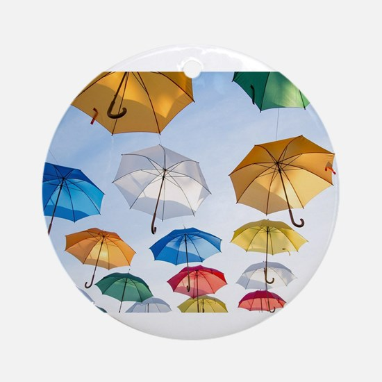 Umbrellas Round Ornament