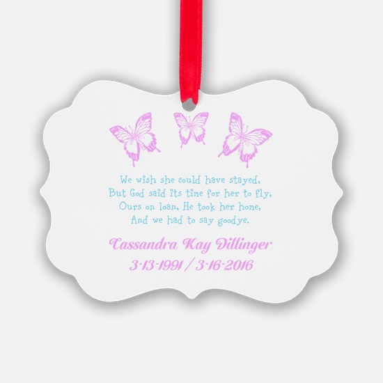 Personalize/Ours On Loan Ornament