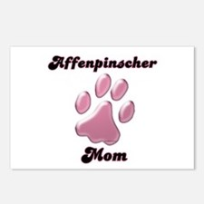 Affenpinscher Mom3 Postcards (Package of 8)