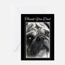 Thank You Dad Pug Greeting Cards