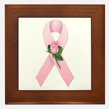 Breast Cancer Ribbon 2 Framed Tile