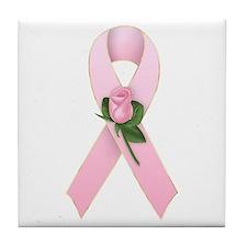Breast Cancer Ribbon 2 Tile Coaster