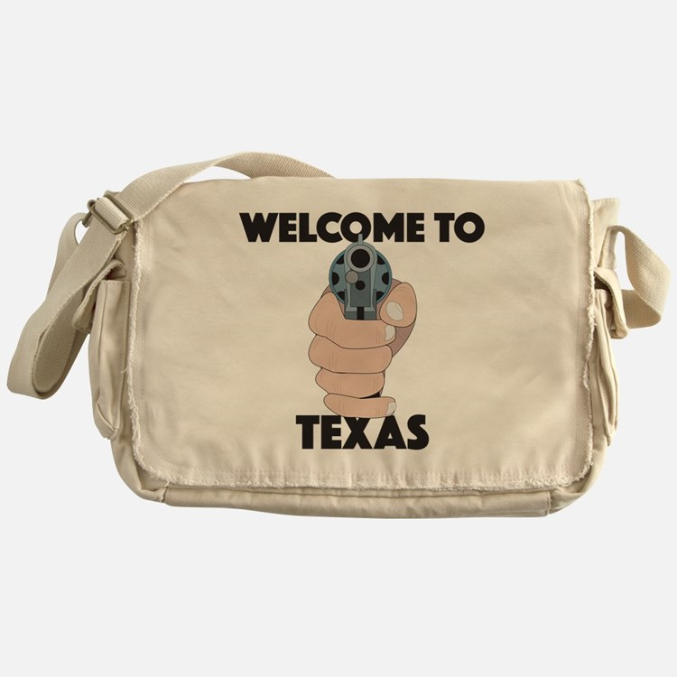 Cute Welcome to texas Messenger Bag