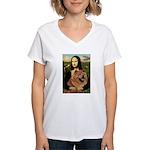 Mona / Chow Women's V-Neck T-Shirt