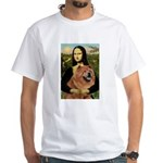 Mona / Chow White T-Shirt