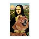 Mona / Chow Sticker (Rectangle)