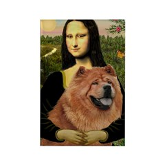 Mona / Chow Rectangle Magnet