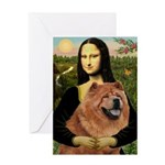 Mona / Chow Greeting Card