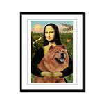 Mona / Chow Framed Panel Print