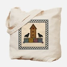 Primitive Birdhouse Tote Bag