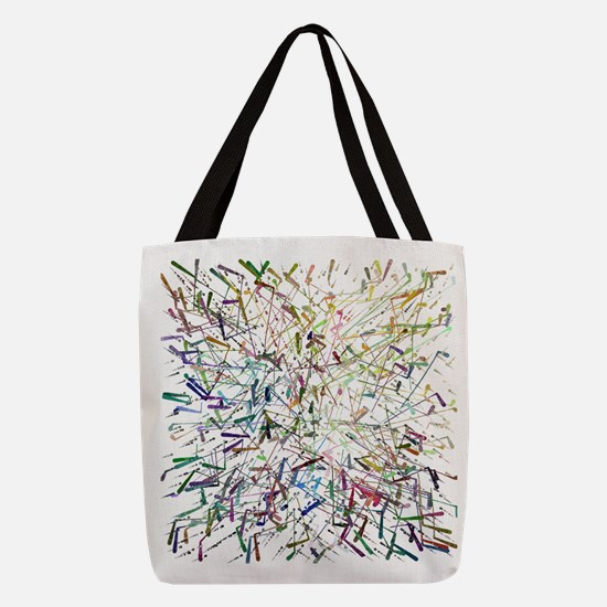 Abstract by Leslie Harlow Polyester Tote Bag