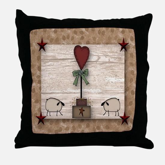 Heart Topiary Throw Pillow