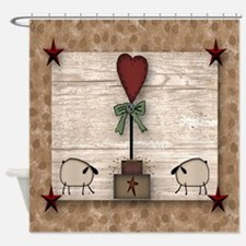 Heart Topiary Shower Curtain
