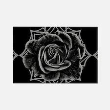Black Rose On Gothic Magnets
